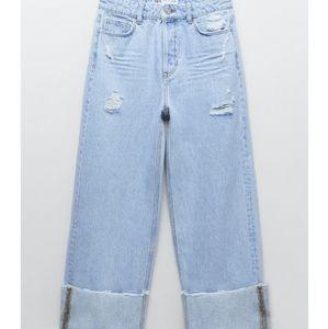 Zara loose cuffed hem jeans